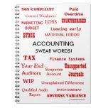Accounting Swear Words Accountant Joke Gift Idea Notebook