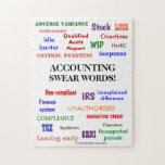 Accounting Swear Words Accountant Joke Gift Jigsaw Puzzle