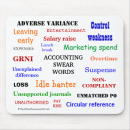 ACCOUNTING SWEAR WORDS - Accounting Expletives Mouse Pad