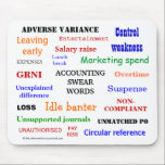 "ACCOUNTING SWEAR WORDS annoying mousepad<br><div class=""desc"">Is this the most annoying accountant mousepad on the net? Buy it - if you dare!</div>"