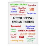 Accounting Swear Words! Blank Greeting Card