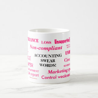 Accounting Swear Words! Female Accountant Joke! Coffee Mug