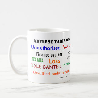 Accounting Swear Words!! (multicoloured) Classic White Coffee Mug