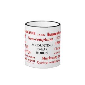 Accounting Swear Words! Rude Accounting Expletives Ringer Mug