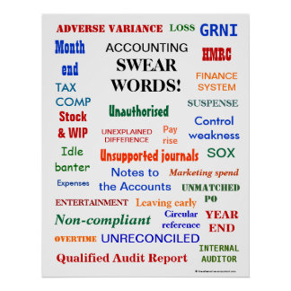 ACCOUNTING SWEAR WORDS ! (UK English) Poster