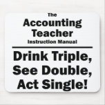 accounting teacher instruction manaul mouse pad