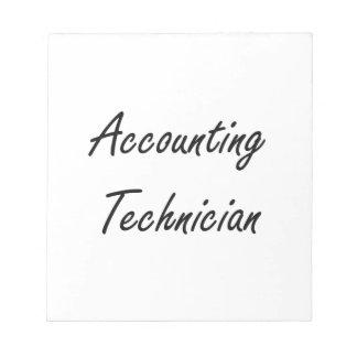 Accounting Technician Artistic Job Design Memo Note Pads