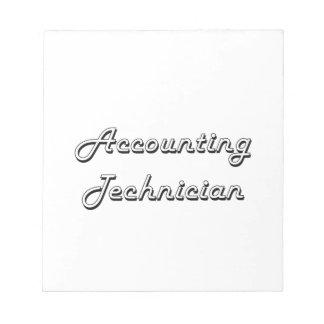 Accounting Technician Classic Job Design Note Pad