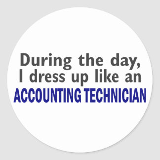 ACCOUNTING TECHNICIAN During The Day Round Stickers