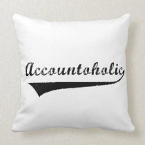 Accountoholic Throw Pillow