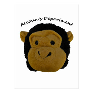 Accounts Department Mr Trouble Funky and Funny Postcard