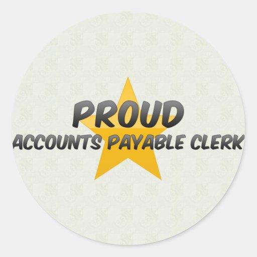 ACCOUNTS PAYABLE CLERK1 CLASSIC ROUND STICKER