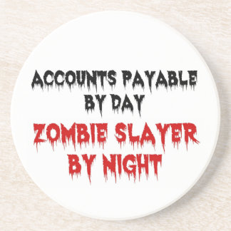 Accounts Payable Zombie Slayer Sandstone Coaster