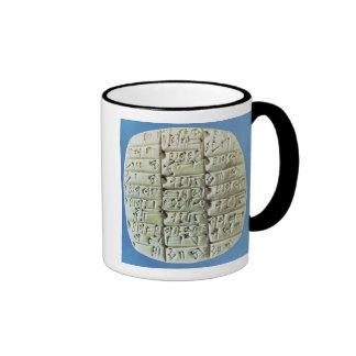 Accounts Table with cuneiform script, c.2400 BC (t Mug