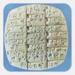 Accounts Table with cuneiform script, c.2400 BC (t Square Sticker