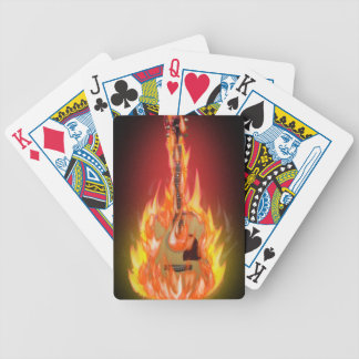 Accoustic Fire Guitar Bicycle Playing Cards