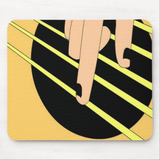 Accoustic Guitar Playing Mouse Pad
