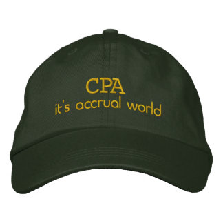 Accrual 1 embroidered baseball hat