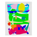 Accumulated Time Swimming Pool Green Yard Poster