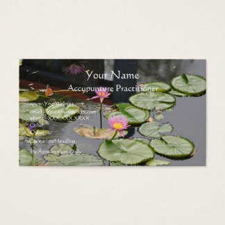 Accupuncture Practitioner - business card template