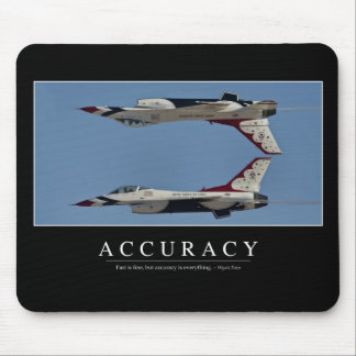 Accuracy: Inspirational Quote Mouse Pad
