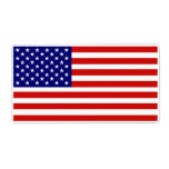 Accurate American Flag Label Custom Shipping Labels
