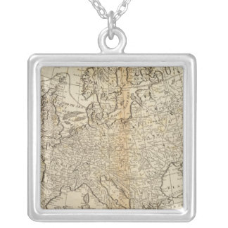 Accurate Map of Europe Necklace