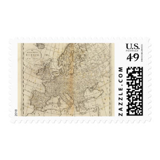 Accurate Map of Europe Stamp