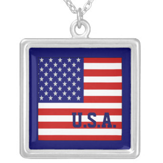 Accurate USA American Flag Necklace Jewelry