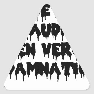 Accursed poet (IN WORMS AND DAMNATION) - Word Triangle Sticker