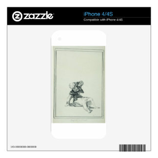 Accuse the Time by Francisco Goya Decal For iPhone 4