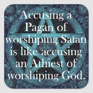 Accusing a Pagan Square Sticker