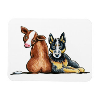 ACD and Brown Cow Rectangular Magnet