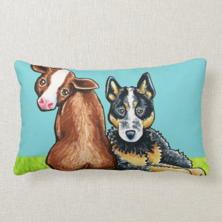 ACD and Brown Cow Throw Pillow