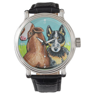 ACD and Brown Cow Wrist Watch