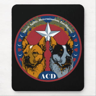 ACD: Speed, Agility, Determination, Intelligence Mouse Pad