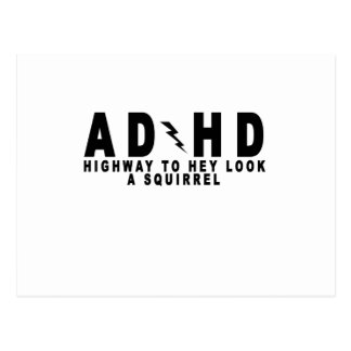 ACDC ADHD Highway to Hey Look a Squirrel! tee MN.p Postcard