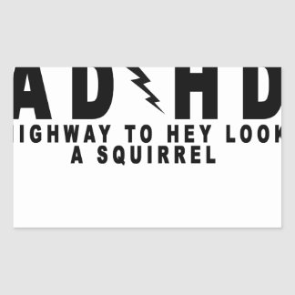 ACDC ADHD Highway to Hey Look a Squirrel! tee MN.p Rectangular Sticker