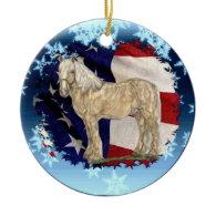 ACDHA Cream Horse Christmas Ornament