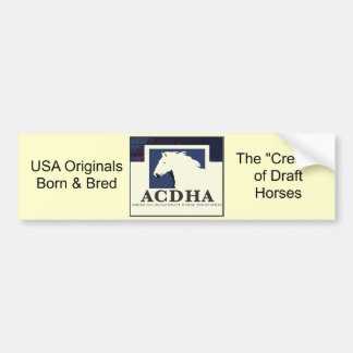 ACDHA logo bumper sticker