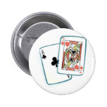 Ace and Jack Poker Cards Pins