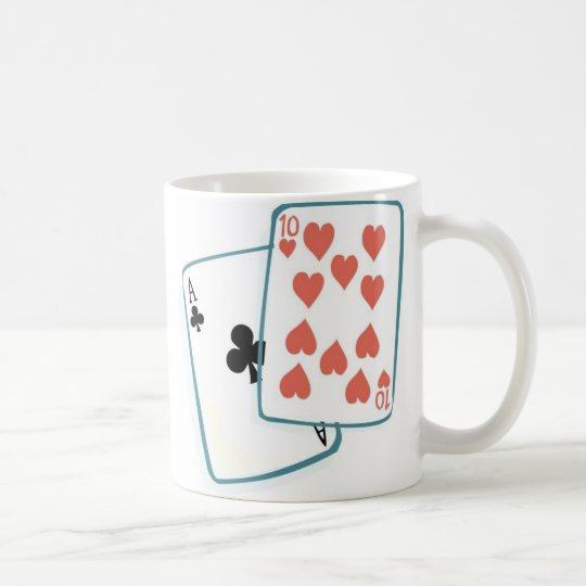 Ace and Ten of Hearts Playing Cards Coffee Mug