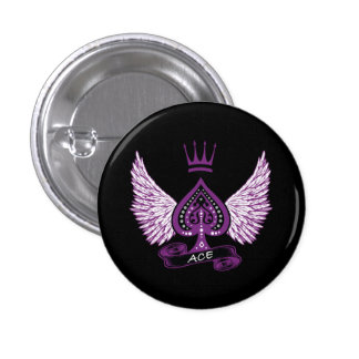 Ace Asexual LGBT Pride Wings and Crown Button