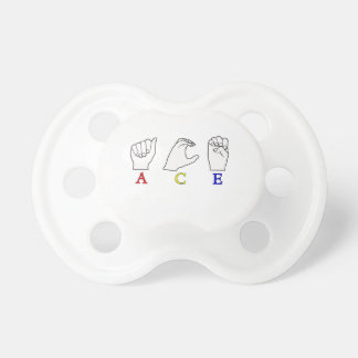 ACE ASL FINGERSPELLED NAME SIGN PACIFIER