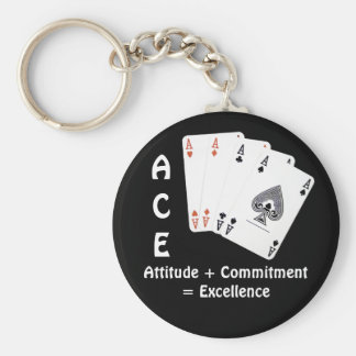 ACE Attitude + Commitment = Excellence Keychain