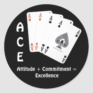 ACE Attitude + Commitment Excellence Sticker