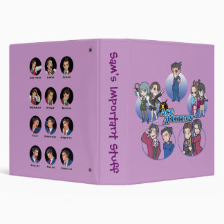 Ace Attorney Chibi s 3 Ring Binders