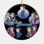 Ace Attorney Chibi's Christmas Ornament