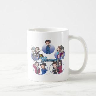 Ace Attorney Chibi's Classic White Coffee Mug