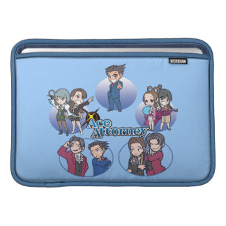 Ace Attorney Chibi's MacBook Sleeves
